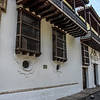 Facade of the Palace of the Inquisition in Cartagena de Indias, Colombia, South America