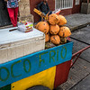 Fruit stall in the old center of Cartagena de Indias, Colombia, South America