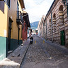 Streets in the old center of Bogota, Colombia - South America