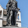 Statue of Pedro de Heredia in the old center of Cartagena de Indias in Colombia, South America