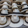 Panama hats for sale for tourists in Cartagena de Indias, Colombia, South America
