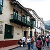 Calle 11 and restaurant La Puerta Falsa in the center of Bogota - Colombia - South America