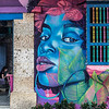 Colorful mural / street art in Cartagena de Indias, Colombia, South America