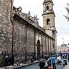 Calle 11 and Catedral Primada de Colombia in Bogota, Colombia - South America