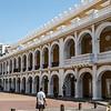 Plaza de la Proclamacion (Proclamation Square) in the old city of Cartagena de Indias - Colombia, South America