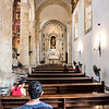 Interior of the cathedral in Cartagena de Indias in Colombia, South America