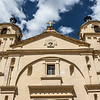 Facade of the Candelaria church in Bogota, Colombia - South America