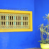 Stunning Cobalt blue wall in Morocco with vintage accents in contracting colors