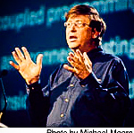 Bill Gates on stage during Comdex Keynote Microsoft event Las Vegas. photo by: Michael Moore - MrPix.com
