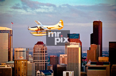 CIty of Seattle and the new Expedia.com's new seaplane