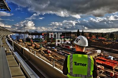 Husky Stadium Renovation.  Industrial Photography by Michael Moore   MrPix.com
