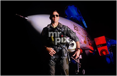 Top Gun Pilot with F-14. US NAVY - Corporate Photography