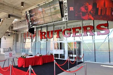 Entrance to the Brown's Family Recruiting Pavilion located on the second floor in the High Point Solutions Stadium in Piscataway, New Jersey.