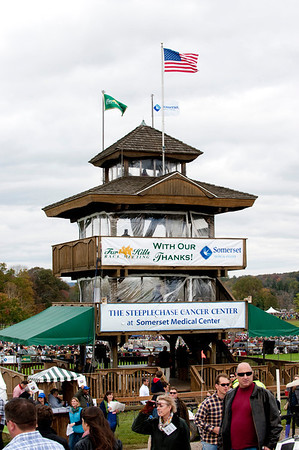 General view of the tower at the 91st annual Far Hills Race meeting at Far Hills sponsored by Open Road Auto Group at Moorland Farms in Far Hills, New Jersey.