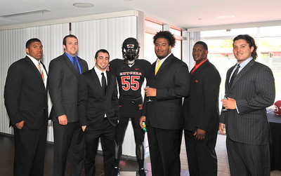 Rutgers' Athletes at the Brown'n Recruiting Pavillion in Piscataway, New Jersey.