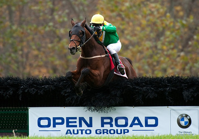 The Foxbrook Champion Hurdle race at the 91st annual Far Hills Race meeting at Far Hills sponsored by Open Road Auto Group at Moorland Farms in Far Hills, New Jersey.