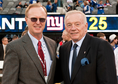 New York Giants owner John Mara and Dallas Cowboys owner Jerry Jones.