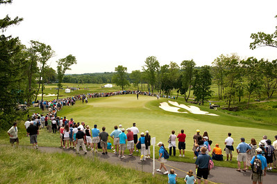 General view of the 16th hole at the Hamilton Farm Golf Club in Gladstone, New Jersey.
