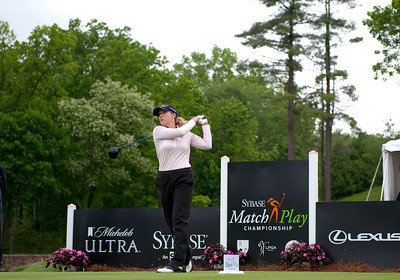 Cristie Kerr tees off the 2011 Sybase Match Play Championship round.