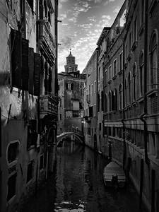 A Quiet Canal - Venice (B+W)