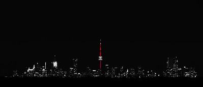 CN Tower, Red at Night - Toronto CANADA