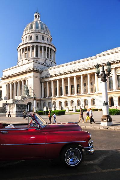 Oldtimer and Capitolio. Havana. Cuba