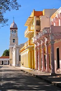 Alignment of ancient buildings in Bayamo, Cuba