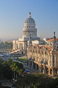 Sunrise on Havana's nicest buildings