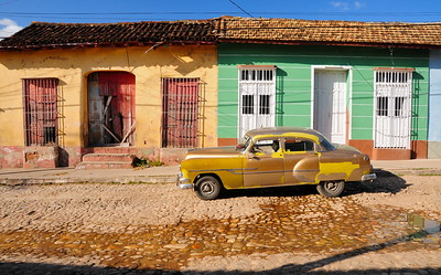 Oldtimer in the streets of Trinidad, Cuba