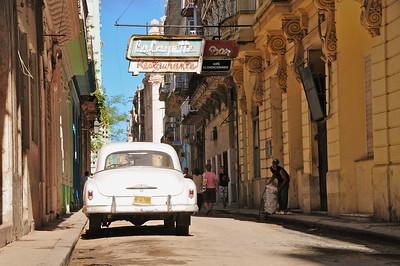 In the streets of Havana Vieja