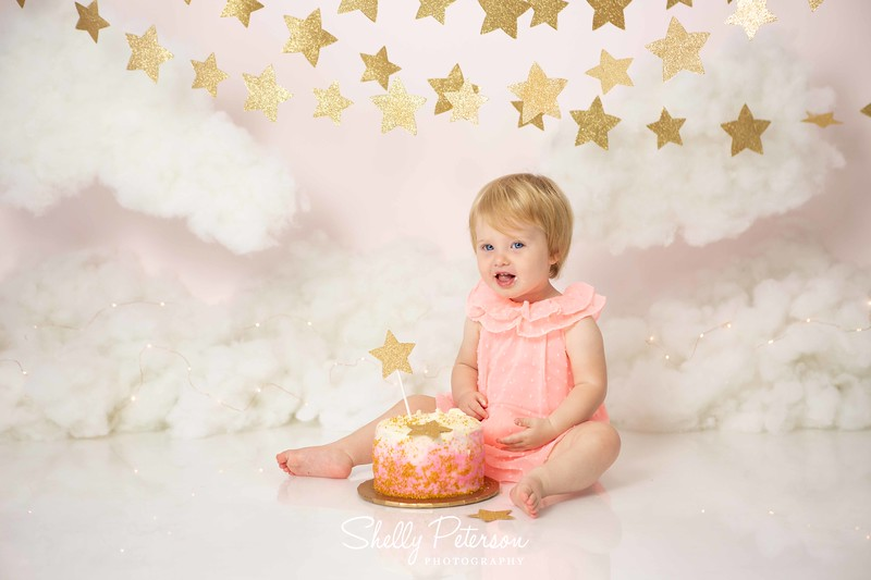 Clouds and Stars Cake Smash