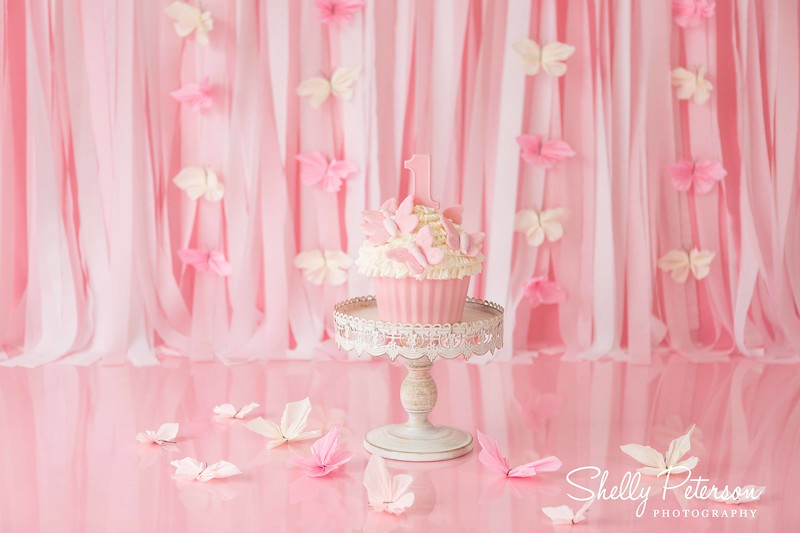 Pink Butterflies Cake Smash