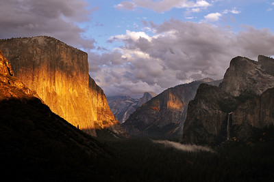 Slivers of Sunset Light Yosemite National Park