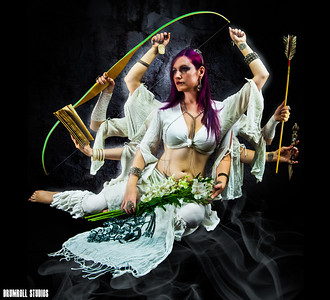 Miss january, Medea, a seattle bellydancer,and Creator of rebel belly productions.