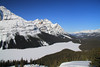 Peyto Lake in Banff National Park.  A view that few get to see as you have to snowshoe in about a mile to get to this point.  In summertime, this viewpoint is busy all day long.  In winter, we are there alone most of the time.