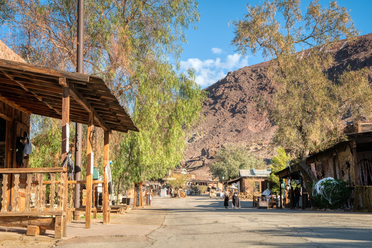 The Main Street as one enters Calico