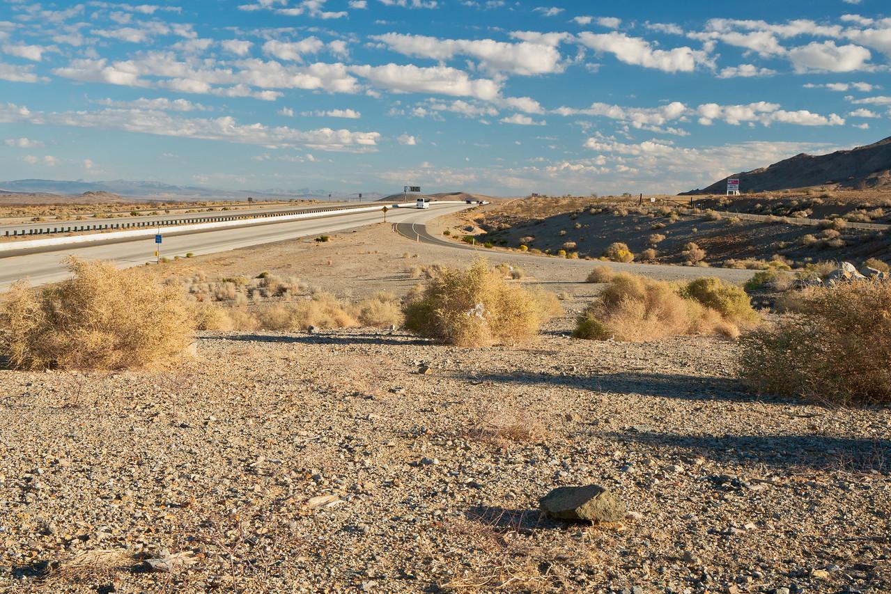 Interstate 15 heading toward Las Vegas