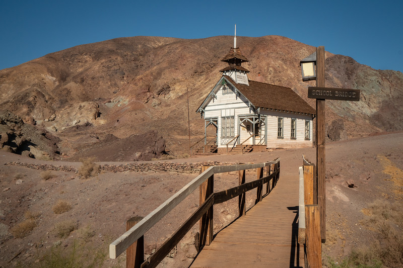 Reconstruction of the original school at Calico Ghost Town