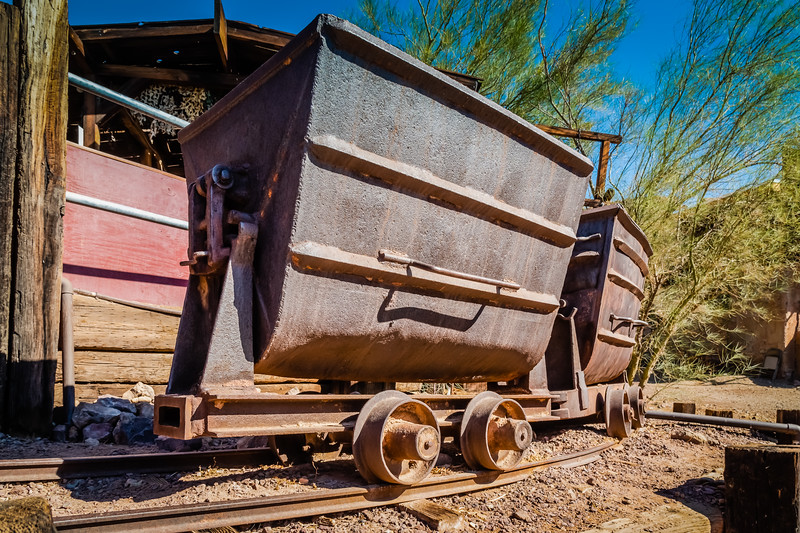 Oar cars at Calico Ghost Town