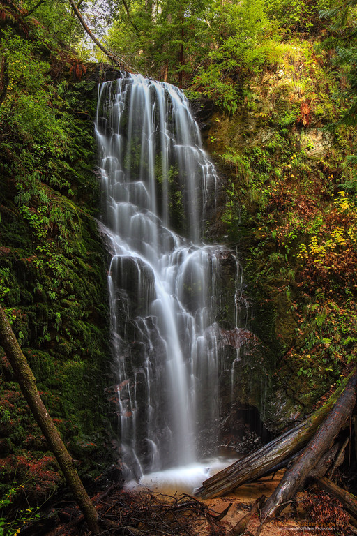 """Berry Creek Falls"" <br>Location: Big Basin Redwood State Park, California.  <p></p><p>These are iconic waterfalls in the mountains of Santa Cruz. To reach up to this point one has to hike at least 4 miles one way, but the views are worth the efforts especially when the waterfalls are flowing after a few winter rainstorms.  </p><p>Tech Info: <br>Lens: Canon EF 24-70mm f/2.8L @ 32mm <br>Camera: Canon EOS 5D Mk II <br>Exposure: 2.5sec at f/14 and ISO 100 <br>Filters: No filters  <br><br>Big Basin Redwood State Park is one of the pristine and less known areas if the Bay Area. If you enjoy hiking this is a great place to see tall redwood tress, cascading waterfalls and interesting fall colors when the time is right. The place is best known for its beautiful Berry Creek waterfalls which require at least 4 miles of hiking to reach one way. There are actually three cascading waterfalls along the stream and all of them are very beautiful especially after a rainy season.</p>"
