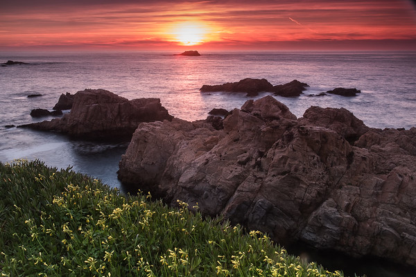 Sunset at Soberanes Cove