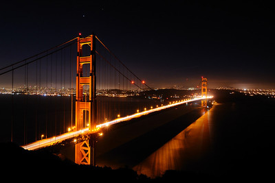 Nighttime on the Golden Gate Marin Headlands