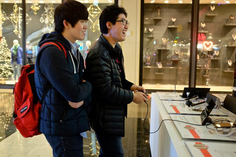 Enjoying the PS4 , Westfield Mall - San Francisco, California