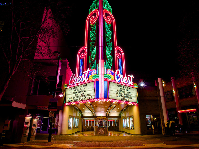Crest Theater and its glorious neon - Sacramento, California