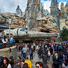 Tourists Overrun the Millennium Falcon - Anaheim, California