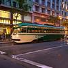 Vintage Trolly on Market Street - San Francisco, California
