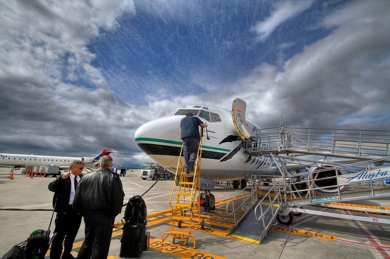 Alaska Airlines at San Jose Mineta Airport - San Jose, California