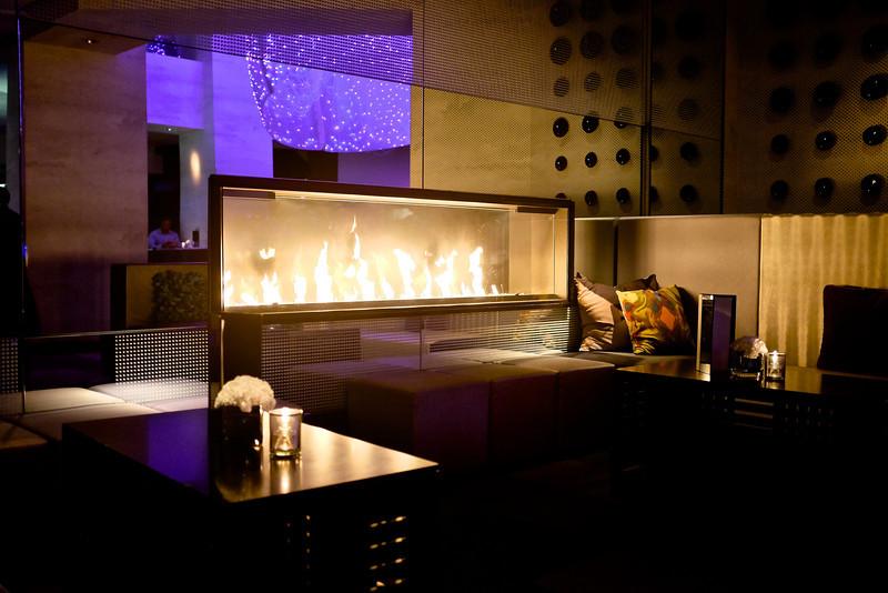 Fireplace, W Hotel - San Francisco, California
