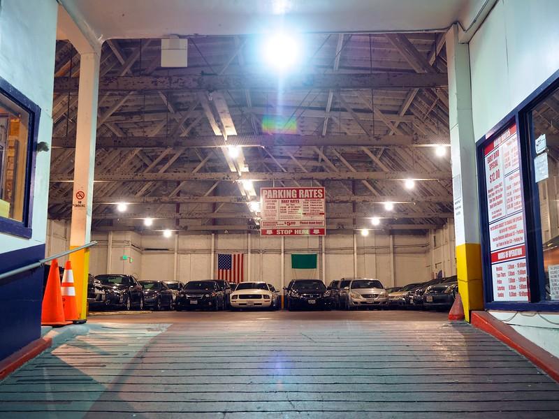 Garage with neatly arranged cars - San Francisco, California