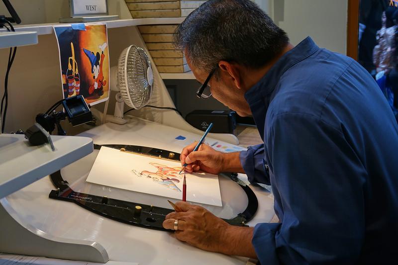 Artist At Work, Wonderland Gallery - Anaheim, California